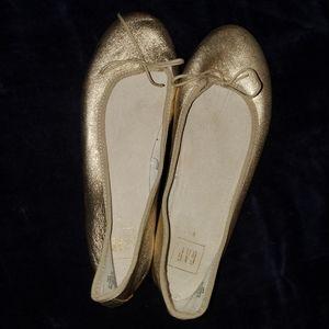 GAP Gold Ballerina Flat Size 8